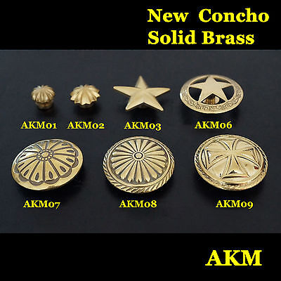 Quality Western Concho Made of Solid Brass Saddle Tack Craft Concho Leathercraft