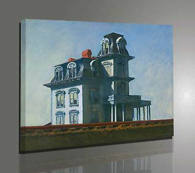 Edward Hopper House by the Railroad Stampa su tela Canvas effetto Quadro Dipinto