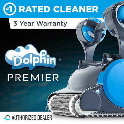 Dolphin Premier Robotic Pool Cleaner with Oversized Bag & Wireless Remote