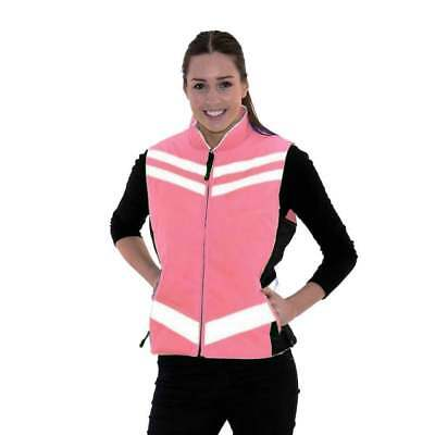 Equisafety Quilted Waistcoat - Hi Viz Reflective Horse Riding Gilet - Pink