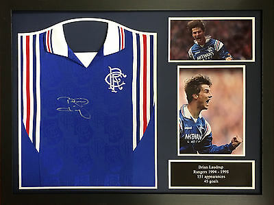 Brian Laudrup Framed Signed Glasgow Rangers 1998 Football Shirt With Proof & Coa