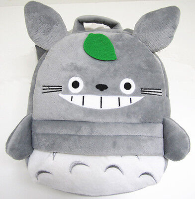 Japan Ghibli Kawaii My Neighbour Totoro Plush Leaf Backpack Knapsack School Bag