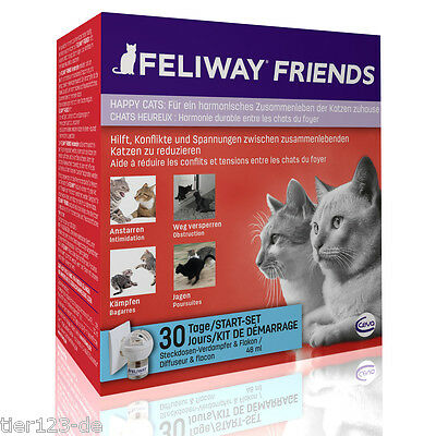 2 x Feliway FRIENDS Starter- Zerstäuber Set (2 Stecker + 2 x 48ml Flacon)