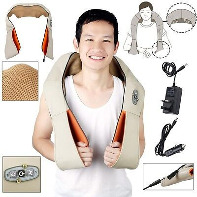 Hotrose Electric Shiatsu Kneading Neck Shoulder Body Massager With Heat