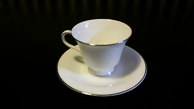 Wedgwood Silver Ermine Tea Cup And Saucer