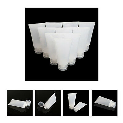10PCS Dull Polish Empty Cosmetic Soft Tube Travel Makeup Container U344
