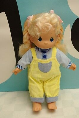 Precious Moments Vinyl Body Doll Blonde 12""