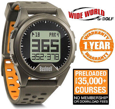 New 2016 Bushnell Neo Ion Gps Golf Watch - Charcoal Orange