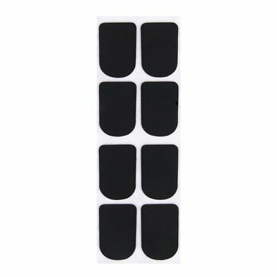 8pcs Clarinet/Soprano Saxophone Sax Mouthpiece Patches Pads Cushions Black WS