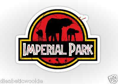 AT-AT Imperial Empire Jurassic Park Star Wars Sticker decal car laptop scrapbook