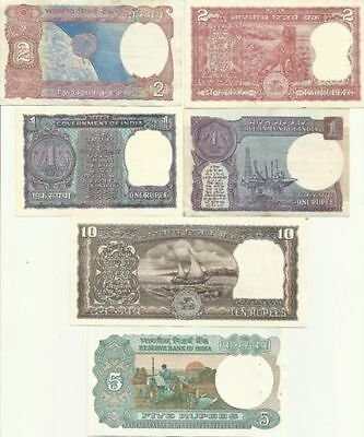 Extremely Rare India Old Currency 6 Different Notes Set UNC GEM