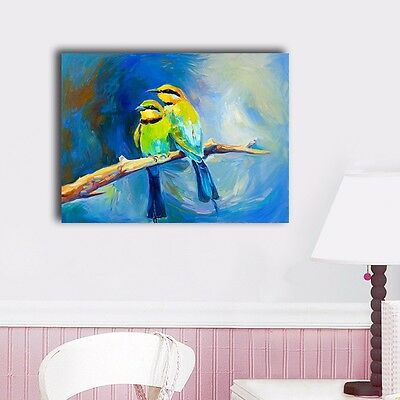 b500fb0ca233c STRETCHED CANVAS PRINT *Cats and Birds* Painting Wall Art Home Decor ...