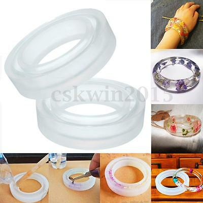 3 Sizes Round Silicone Bracelet Mould Mold For Resin Curve Bangle DIY Making