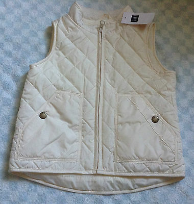 girls genuine gap cream quilted gilet jacket 3yrs/4yrs new rrp £24.99