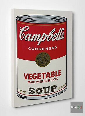 Quadro Andy Warhol Campbell's Soup Can Stampa su Tela Vernice effetto Dipinto