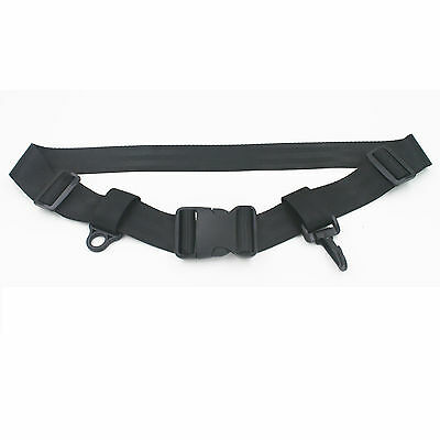 """One Flying Fishing Wading Belt Wader belt w/ D ring and hook Fits 28""""-56"""""""
