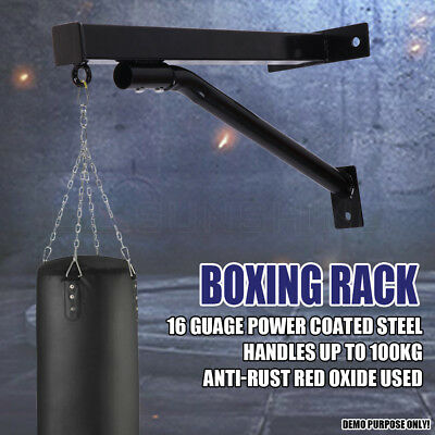 Heavy Duty Punch Bag Wall Bracket Steel Mount Mma Hanging Stand Boxing Gym Au
