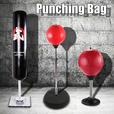 Free Standing Punching Bag Boxing Gloves Speed Ball Training Punching Stand Gym