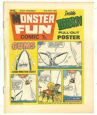 Monster Fun 60 (31 July 1976, near high grade) Frankie Stein, Gums, Kid Kong...