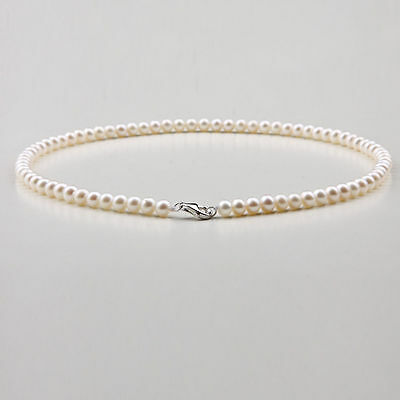 "NEW round 18"" AAA 6-5 MM SOUTH SEA NATURAL White PEARL NECKLACE 14K GOLD  CLASP"