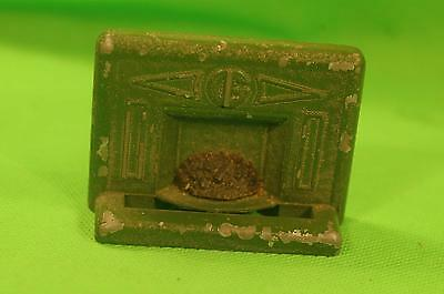 Dolls' house fireplace w green surrounding Vintage Suits any older era room