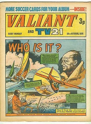 Valiant 30th Oct 1971 (very high grade copy) Star Trek, Kelly's Eye, Steel Claw