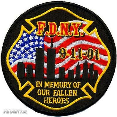 "Memorial Patch FDNY 9-11-01 ""In Memory of..."""