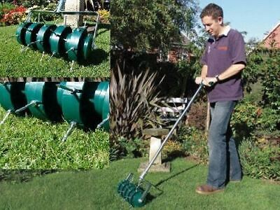 Greenkey Rolling Lawn Aerator For Perfect Lawns Grass Aerator