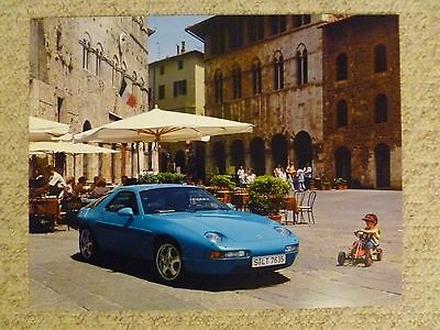 1995 Porsche 928 GTS Showroom Advertising Sales Poster RARE!! Awesome L@@K