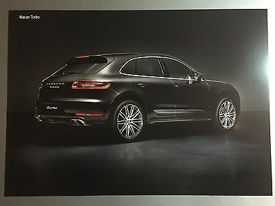 Porsche Macan Turbo Coupe Showroom Advertising Sales Poster RARE!! Awesome L@@K