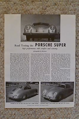 1954 Porsche Super Coupe R&T Road Test Brochure RARE!! Awesome REPRINT L@@K