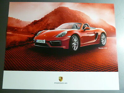 2015 Porsche Boxster GTS Showroom Advertising Sales Poster RARE!! Awesome L@@K