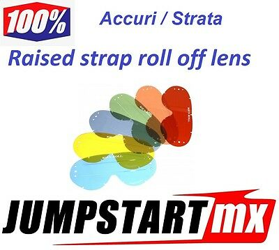 100% Accuri Strata LINED Roll Off Lens Clear Blue Yellow Smoke Green Pink Oran