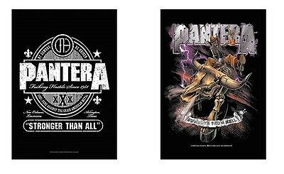 Pantera - Beer Label Logo / Cowboys From Hell - Official Textile Poster Flag