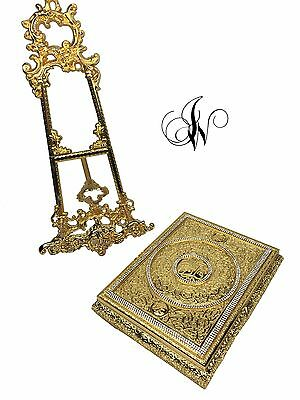 Quran cover box in beautiful gold colour with crystal diamante