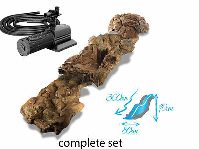 Water Feature Bundle - water pump, hose and water cascade kit FOR GARDEN