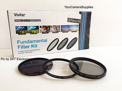 Filter Kit 72mm ND8 UV CPL (Neutral Density 8, CIRCULAR Polarizing,Ultra-violet)