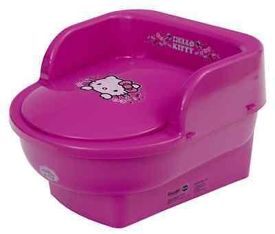 Hello Kitty Kids Toddler Throne Potty Seat Toilet Training Removable Lid PINK