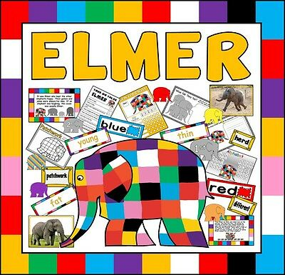 Cd Elmer Story Teaching Resources Eyfs Ks1 English Colours Literacy