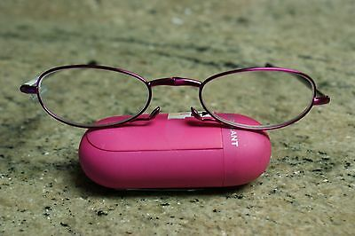 34b3ada4ef New Foster Grant GWENDOLYN Folding Compact Readers Glasses +1.50   Case -  Pink