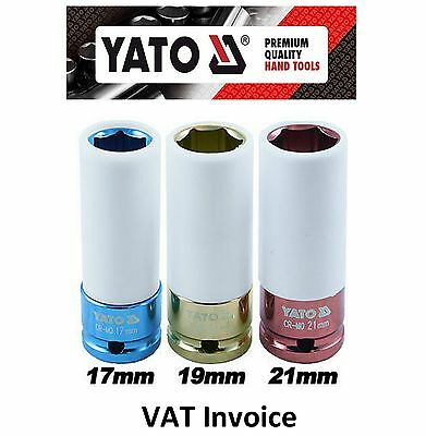 Yato Professional Alloy Deep Thin Wall Impact Socket Set 17 19 21mm CrMo YT-1056