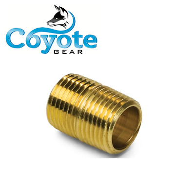 "20 Pack Lot 1/4"" NPT x Close Brass Pipe Nipple Threaded Fittings Coyote Gear"