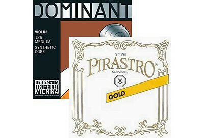 Special Dominant Pirastro Set: Gold Label Loop-End E & Dominant A, D, and G