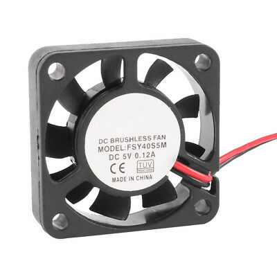 40mm x 10mm 0.12A 2Pin 5V DC Brushless Sleeve Bearing Cooling Fan WS
