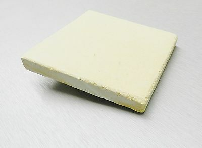 "SOLDERING BOARD CERAMIC PLATE JEWELRY MAKING HEAT RESISTANT 5"" x 5"" SQUARE BLOCK"