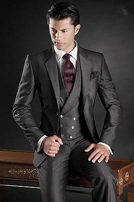 New Slim Fit Men Groom Suit Tuxedos Formal Groomsmen Wedding Suits Custom Made