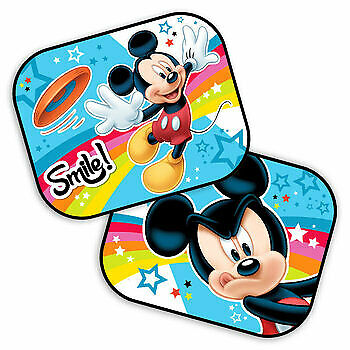 2x Disney Mickey Mouse Car Window SunShade Baby Children Kids UV Sun Shades