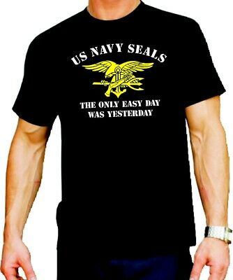 T-Shirt black, NAVY SEAL (The Only Easy Day Was Yesterday)