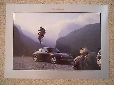 1994 Porsche 911 Carrera Showroom Advertising Sales Poster RARE!! Awesome L@@K