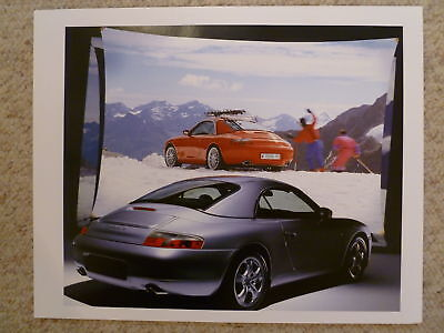 1999 Porsche Carrera 4 Cabriolet Hardtop Showroom Sales Poster RARE Awesome L@@K